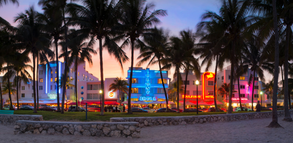 マイアミビーチ「Ocean drive, Miami beach, Florida」:スマホ壁紙(8)