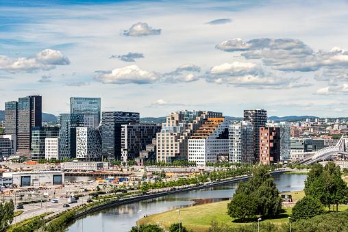 Castle「Norway, Oslo, Bjorvika district, Barcode Project, high-rise buildings」:スマホ壁紙(3)