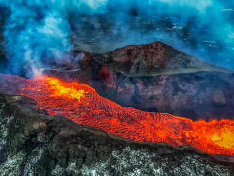 Bardarbunga Volcano「Eruption, Holuhraun, Bardarbunga Volcano, Iceland.」:スマホ壁紙(6)