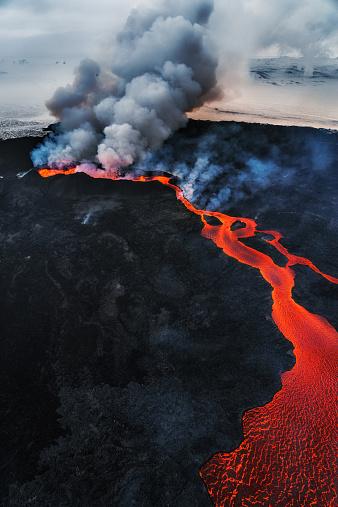 Lava「Eruption, Holuhraun, Bardarbunga Volcano, Iceland」:スマホ壁紙(13)