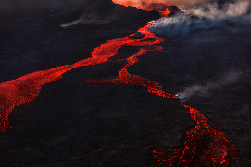 Bardarbunga Volcano「Eruption, Holuhraun, Bardarbunga Volcano, Iceland」:スマホ壁紙(1)
