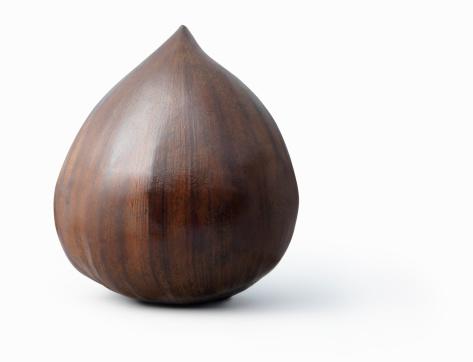 栗「Chestnut on white background」:スマホ壁紙(8)