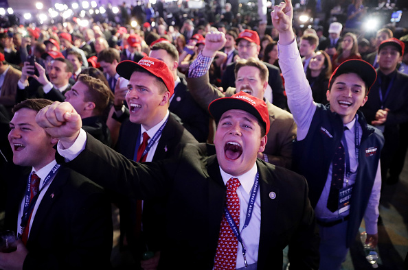 ミッドタウンマンハッタン「Republican Presidential Nominee Donald Trump Holds Election Night Event In New York City」:写真・画像(1)[壁紙.com]