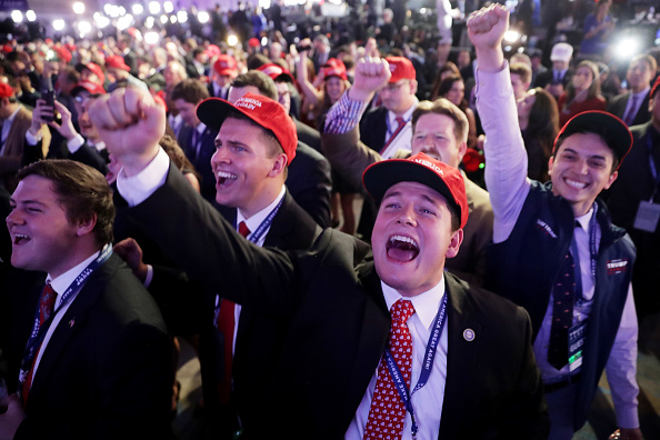 ミッドタウンマンハッタン「Republican Presidential Nominee Donald Trump Holds Election Night Event In New York City」:写真・画像(8)[壁紙.com]