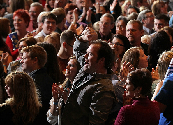 Celebration「GOP Candidate For President Mitt Romney Holds Nevada Caucus Night Gathering」:写真・画像(10)[壁紙.com]
