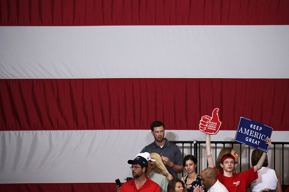 US Republican Party「President Trump Holds Rally In Nashville, Tennessee」:写真・画像(13)[壁紙.com]
