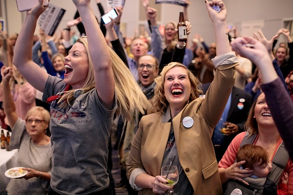 Sharice Davids「Kansas Congressional Candidate Sharice Davids' Holds Election Night Party In Olathe, Kansas」:写真・画像(17)[壁紙.com]