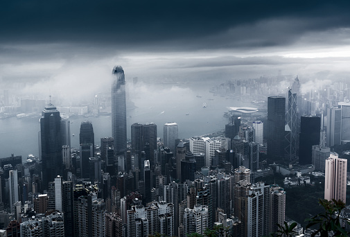 Overcast「View of a very foggy Hong Kong」:スマホ壁紙(9)