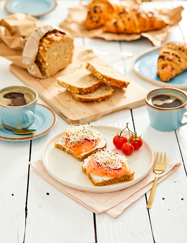 Breakfast「Salmon toast snack」:スマホ壁紙(5)