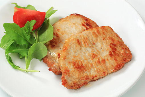 Arugula「Two roasted pork steaks, salad」:スマホ壁紙(1)
