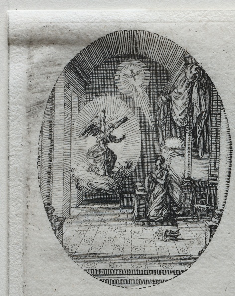 Etching「The Mysteries Of The Passion: The Annunciation. Creator: Jacques Callot (French」:写真・画像(1)[壁紙.com]
