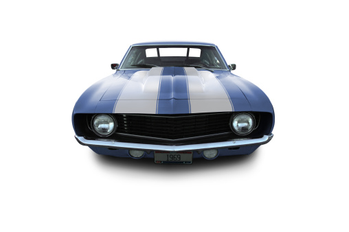 Hot Rod Car「Blue Muscle Car - 1969 Camaro」:スマホ壁紙(8)