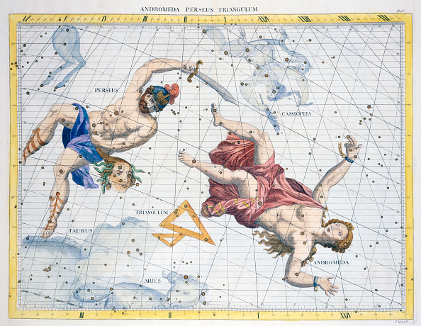 star sky「Constellations Of Perseus And Andromeda 1729」:写真・画像(19)[壁紙.com]