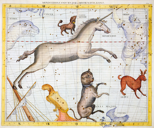 星空「Constellations Of Monoceros Canis Major And Canis Minor 1729」:写真・画像(16)[壁紙.com]