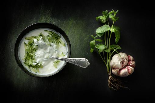 Tzatziki「Greek Food: Tzatziki Still Life」:スマホ壁紙(2)
