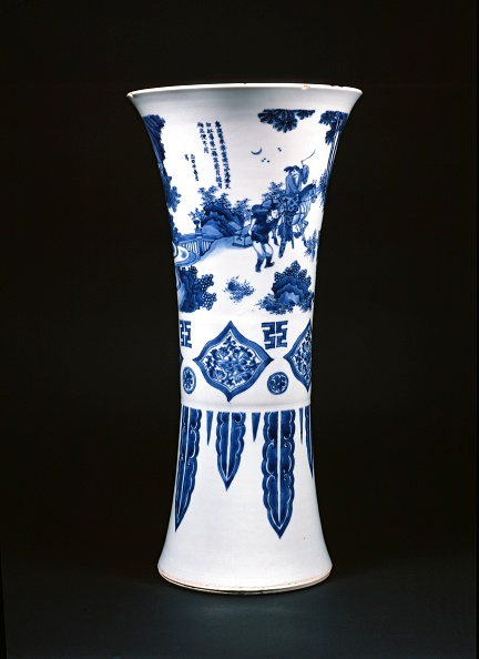 Vase「Blue-And-White Vase With Figures And A Poem」:写真・画像(15)[壁紙.com]