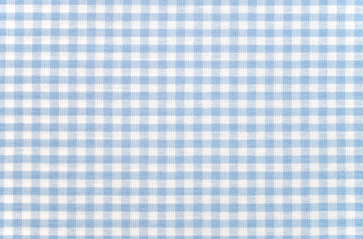 High Angle View「Blue-and-white checkered gingham fabric」:スマホ壁紙(9)