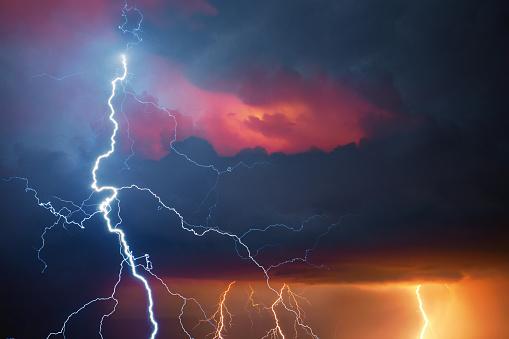 Thunderstorm「Lightning during summer storm」:スマホ壁紙(18)
