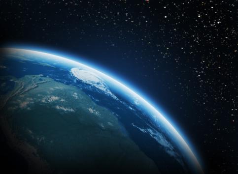 星空「地球のスペース」:スマホ壁紙(15)