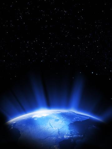 star sky「地球のスペース」:スマホ壁紙(19)