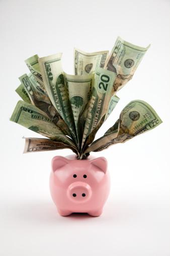 American One Hundred Dollar Bill「Overstuffed Piggy Bank」:スマホ壁紙(17)