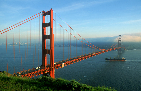 Ship「Golden Gate Bridge during late afternoon, city of San Francisco, state of California, USA」:写真・画像(3)[壁紙.com]