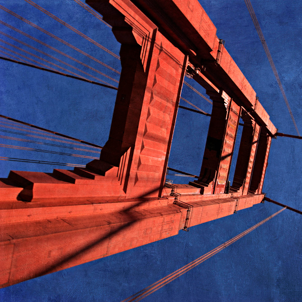 Unusual Angle「Golden Gate Bridge, California, USA (painterly)」:写真・画像(12)[壁紙.com]