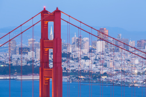 Silicon Valley「Golden Gate Bridge and San Francisco」:スマホ壁紙(1)
