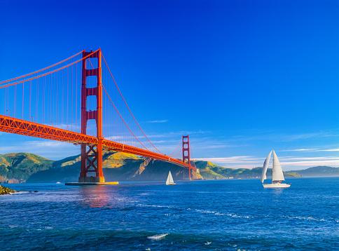 Sailboat「Golden Gate bridge and San Francisco Bay, CA (P)」:スマホ壁紙(18)