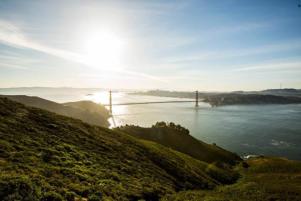 Golden Gate bridge from Marin Headland.:スマホ壁紙(壁紙.com)