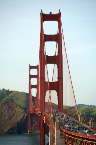 20th Century Style「Golden Gate bridge with view to Marin County」:スマホ壁紙(13)