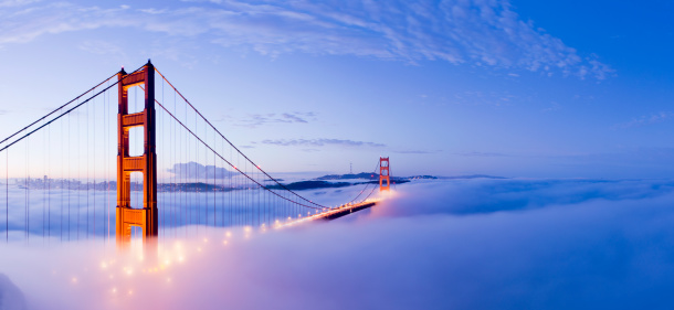 Fog「Golden Gate Bridge San Francisco USA」:スマホ壁紙(8)