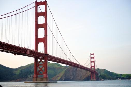 20th Century Style「Golden Gate Bridge low angle perspective」:スマホ壁紙(19)