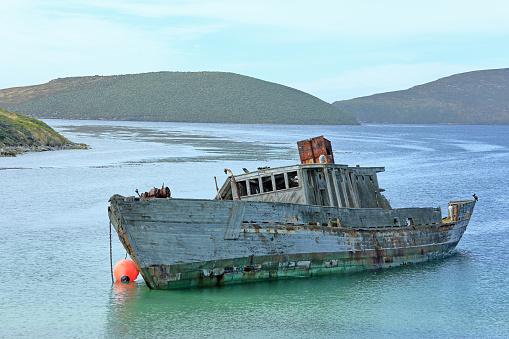 Falkland Islands「Wrecked fishing-boat off New Island, Falkland Isles.」:スマホ壁紙(4)