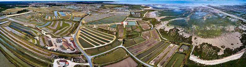 Nouvelle-Aquitaine「Salt Ponds on the Ile de Oleron, France」:スマホ壁紙(17)