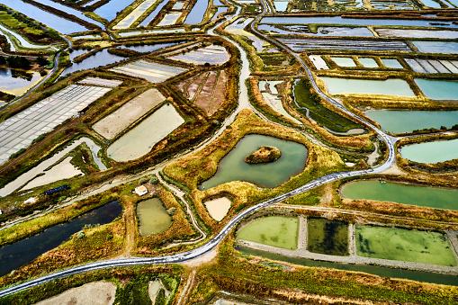 Nouvelle-Aquitaine「Salt Ponds on the Ile de Re, France」:スマホ壁紙(18)