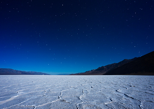 Depression - Land Feature「Badwater Basin by moonlight.」:スマホ壁紙(6)