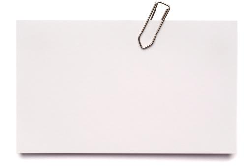 Letter - Document「White blank index card isolated on white」:スマホ壁紙(5)