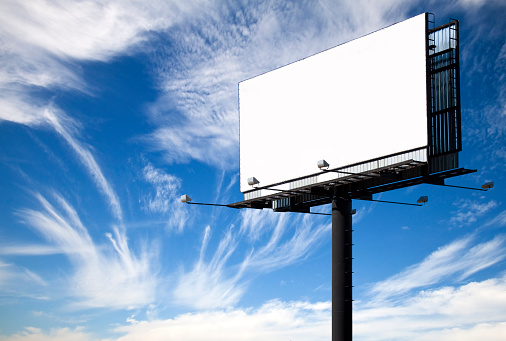 Template「A white blank billboard with the view of the sky」:スマホ壁紙(1)