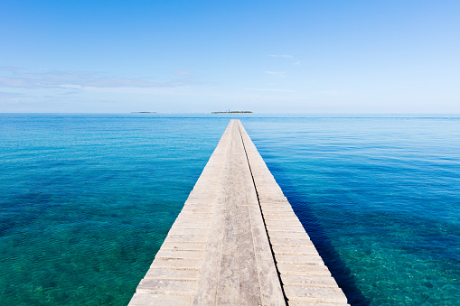 Pier「Endless Jetty to the Horizon Noumea New Caledonia」:スマホ壁紙(1)