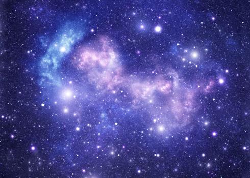 星空「ブルースペースの星」:スマホ壁紙(19)