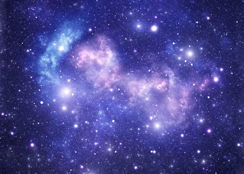 star sky「ブルースペースの星」:スマホ壁紙(19)