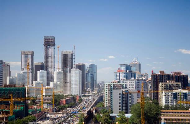 Bustling city, Dongsanhuan Ring Road, CBD, Beijing, China:ニュース(壁紙.com)
