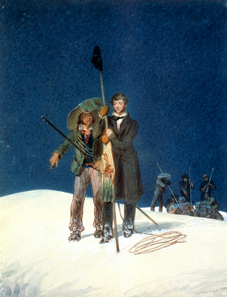 クライミング「Charles Fellows With William Hawes Plants A Baton On The Summit Of Mont Blanc 1827」:写真・画像(15)[壁紙.com]