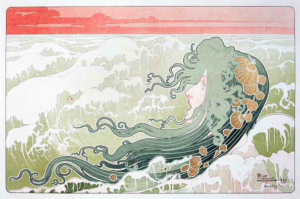 アールヌーボー「The Wave By Henri Livemont」:写真・画像(10)[壁紙.com]