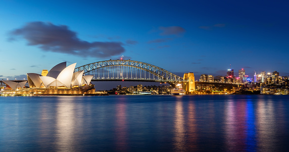 New South Wales「Sydney Skyline at Night」:スマホ壁紙(9)
