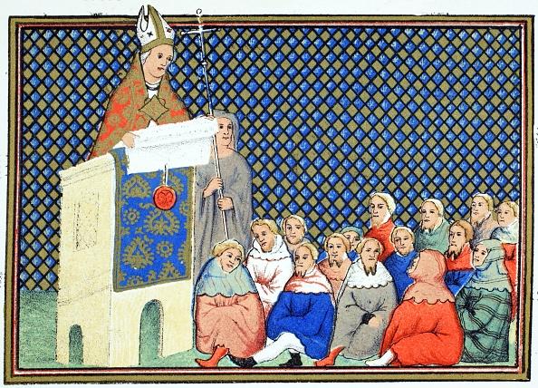 Circa 14th Century「The Archbishop Of Canterbury Preaching To The English Nobility Against Richard Ii」:写真・画像(5)[壁紙.com]