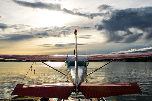 Anchorage - Alaska「Seaplane at sunset」:スマホ壁紙(13)