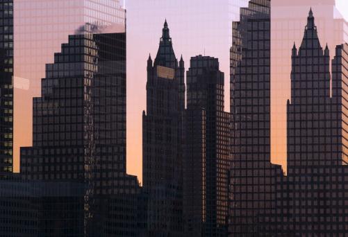 Multiple Exposure「Multiple exposure image of the Manhattan skyline.」:スマホ壁紙(13)