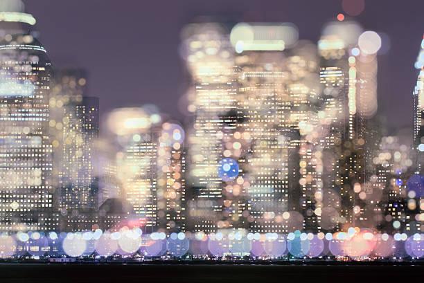Multiple exposure image of the Manhattan Skyline.:スマホ壁紙(壁紙.com)